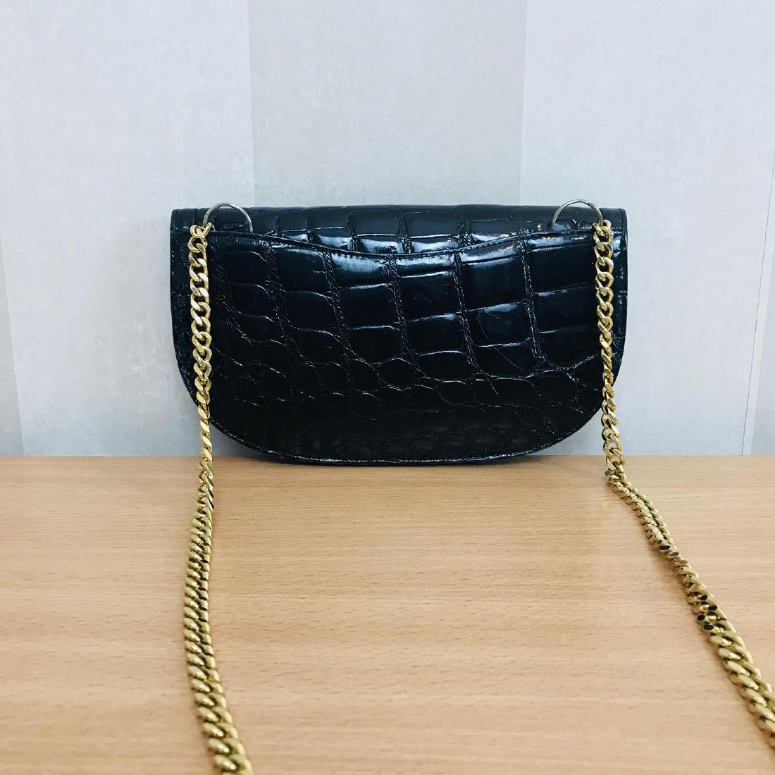Vintage Crocodile Imitation Leather Clutch Bag - 4