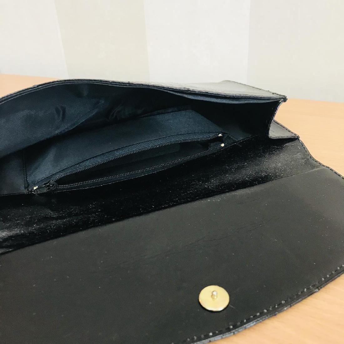 Vintage Genuine Snake Skin Leather Clutch Bag - 4