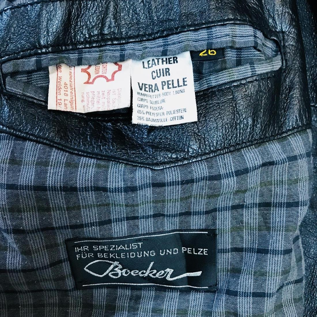 Vintage Men's Boecker Leather Jacket Size US 42 - 8