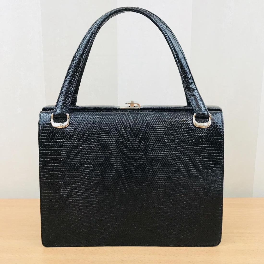 Vintage Handmade Genuine Python Leather Handbag