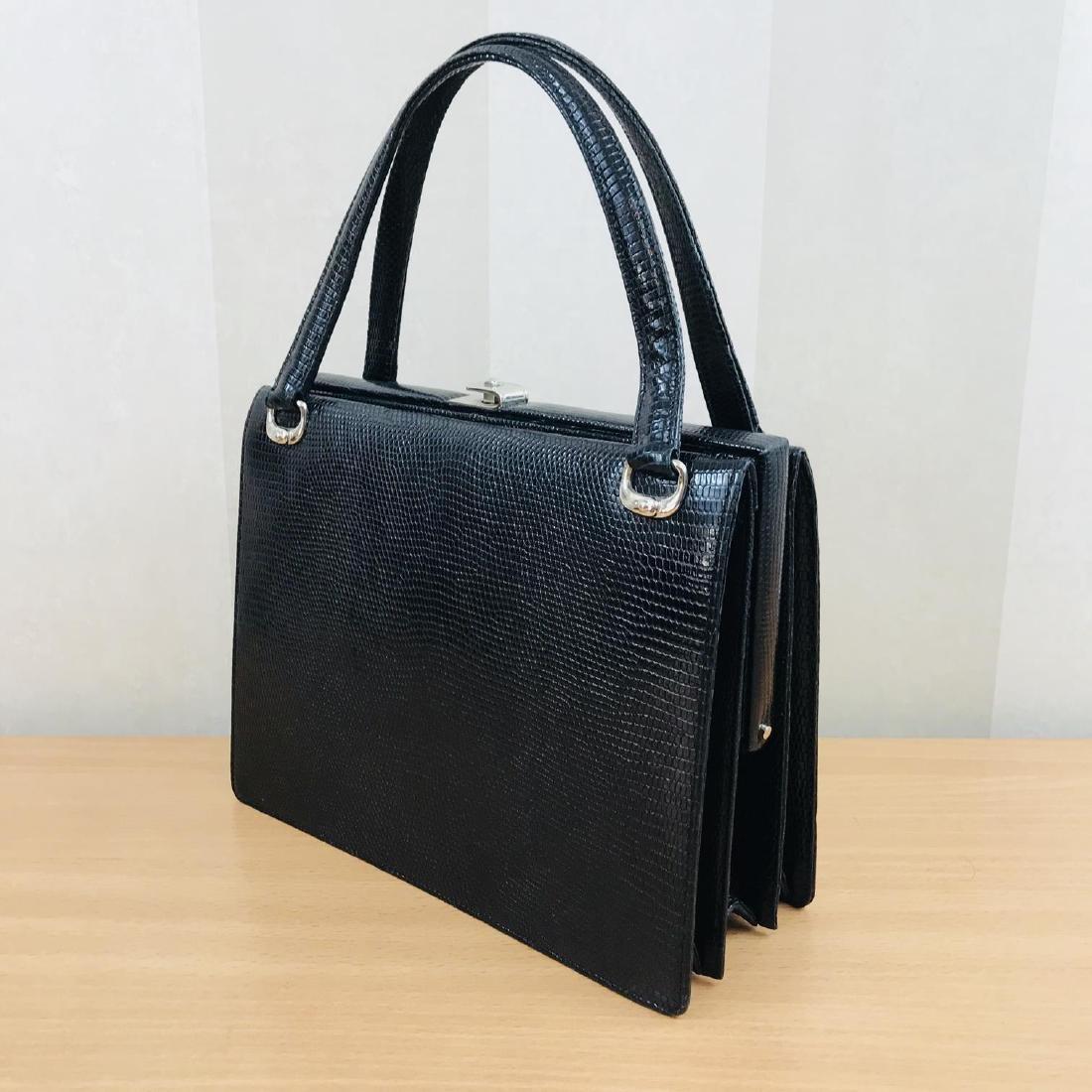 Vintage Handmade Genuine Python Leather Handbag - 2