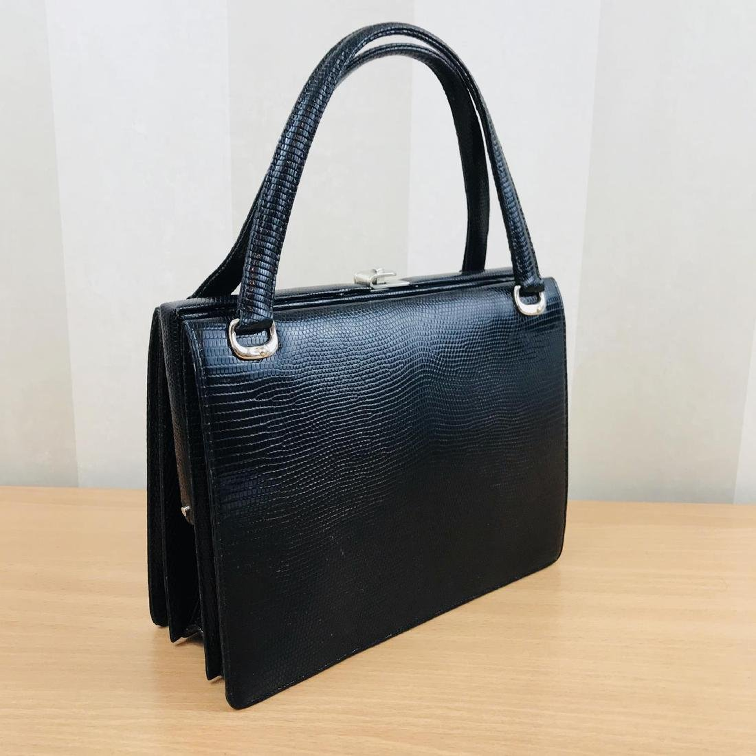 Vintage Handmade Genuine Python Leather Handbag - 4