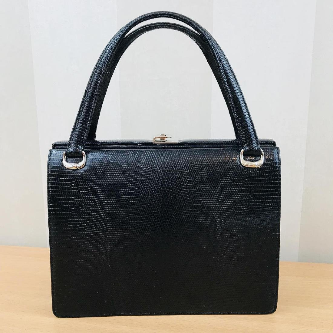 Vintage Handmade Genuine Python Leather Handbag - 5