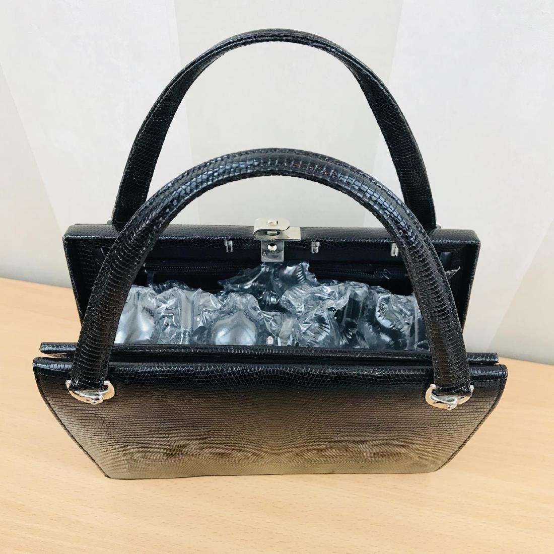 Vintage Handmade Genuine Python Leather Handbag - 8