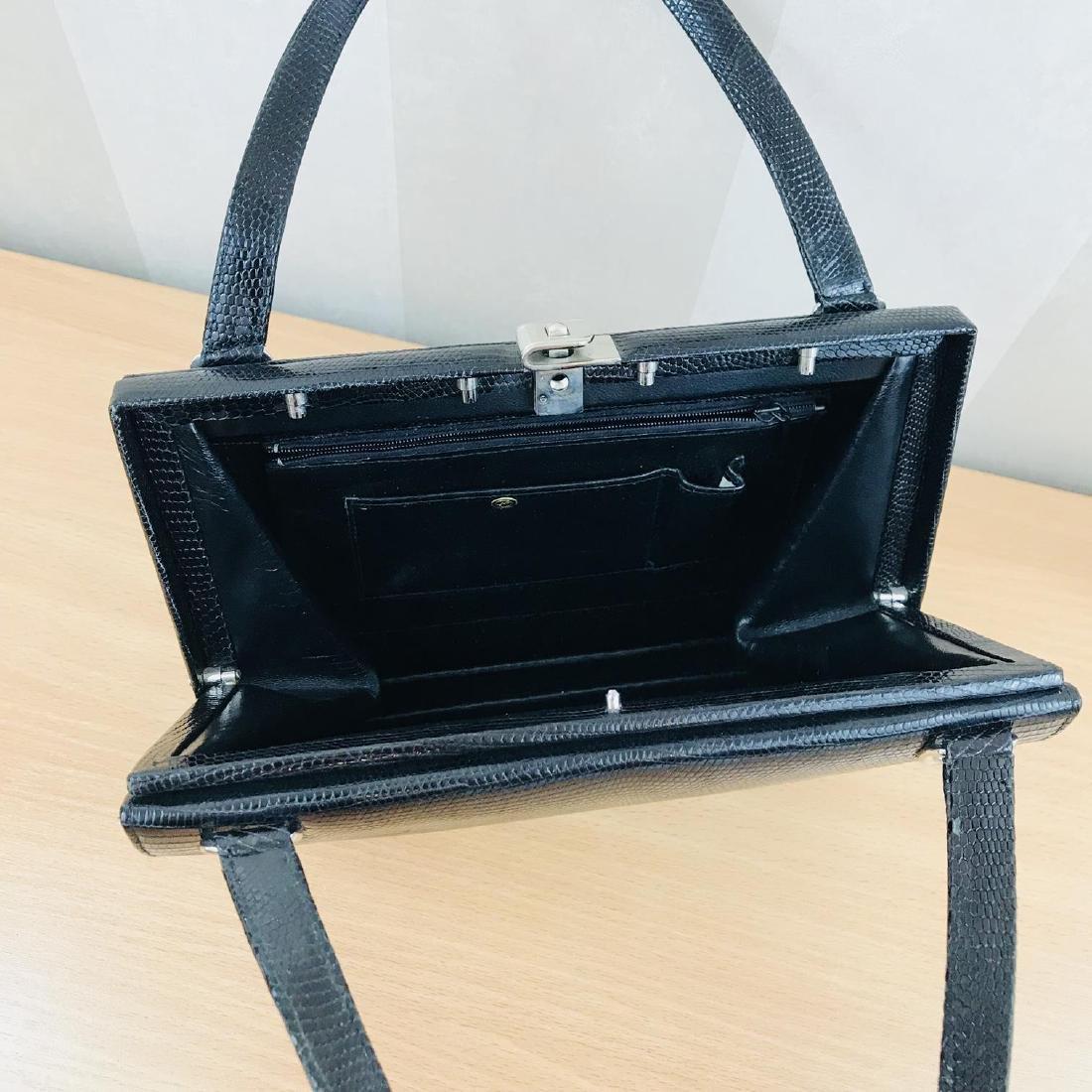 Vintage Handmade Genuine Python Leather Handbag - 9