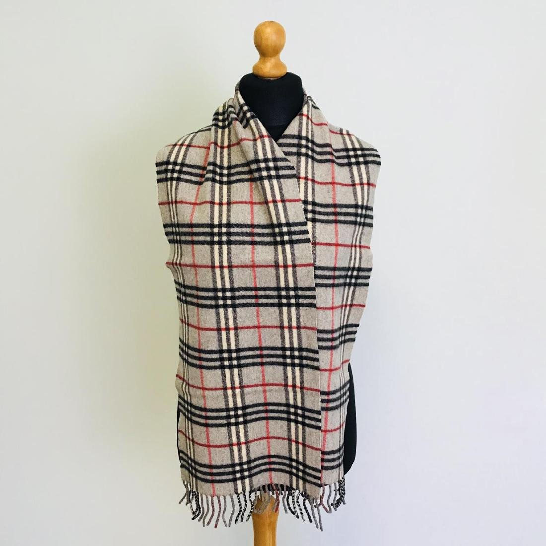 Vintage Burberry Lambswool Scarf