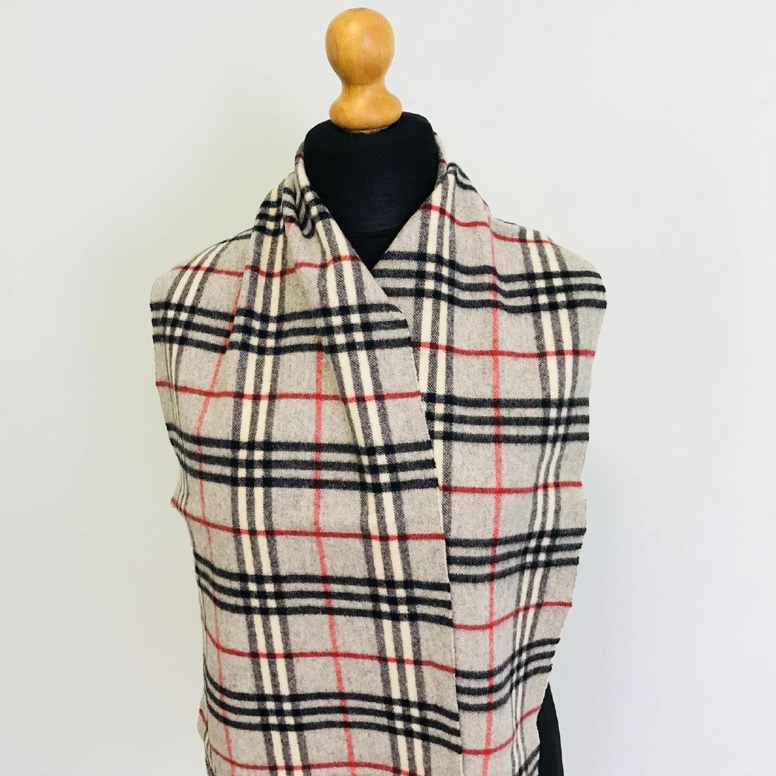 Vintage Burberry Lambswool Scarf - 2
