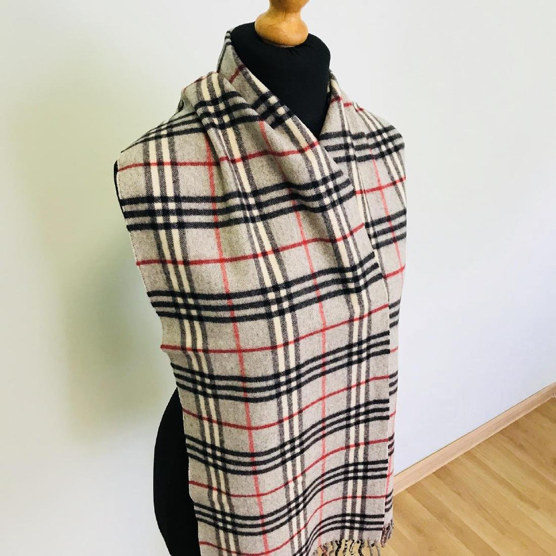 Vintage Burberry Lambswool Scarf - 4