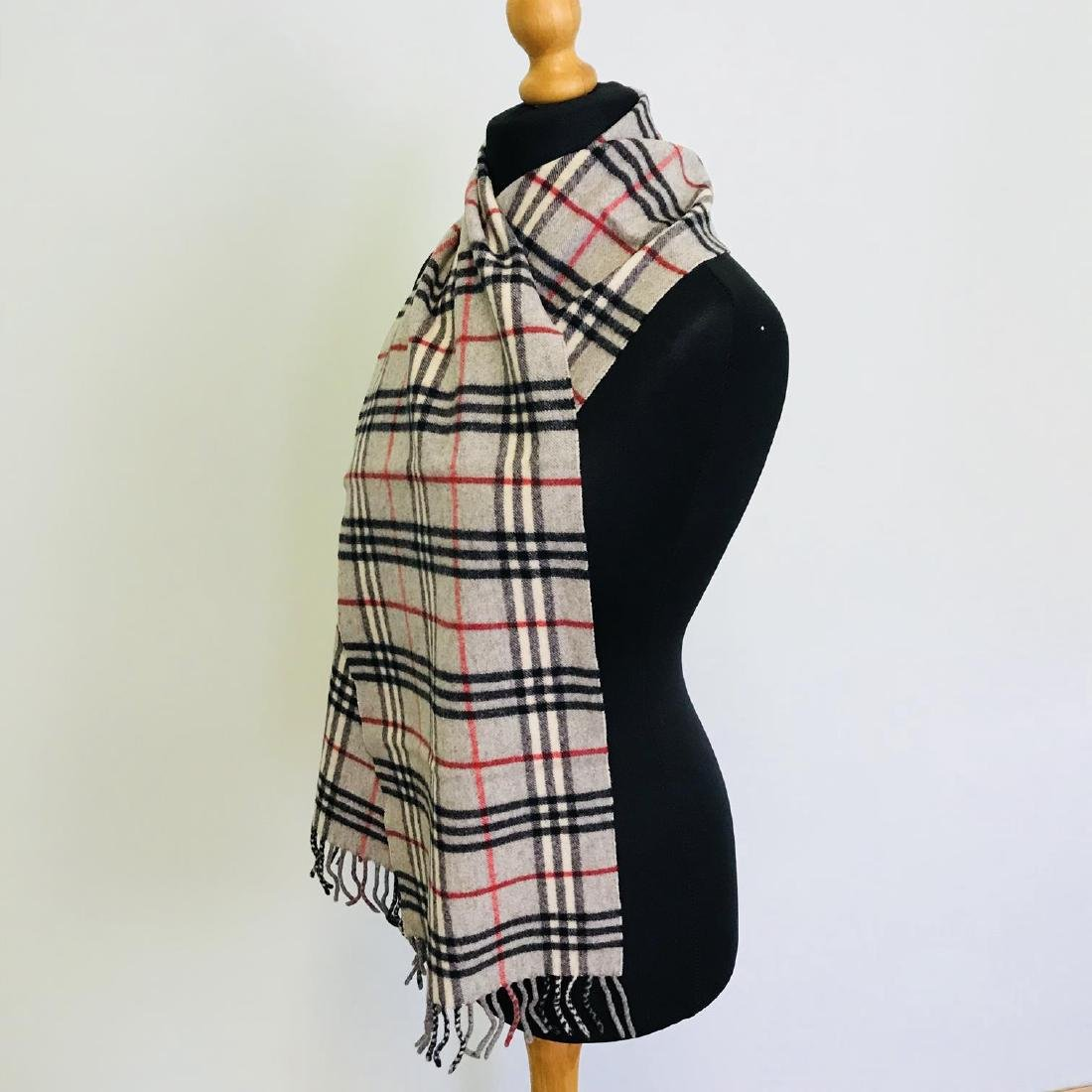 Vintage Burberry Lambswool Scarf - 6