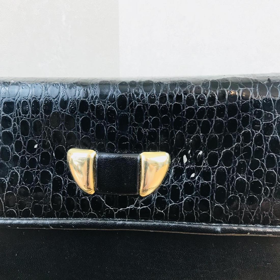 Vintage Handmade Genuine Snake Skin Leather Clutch Bag - 3
