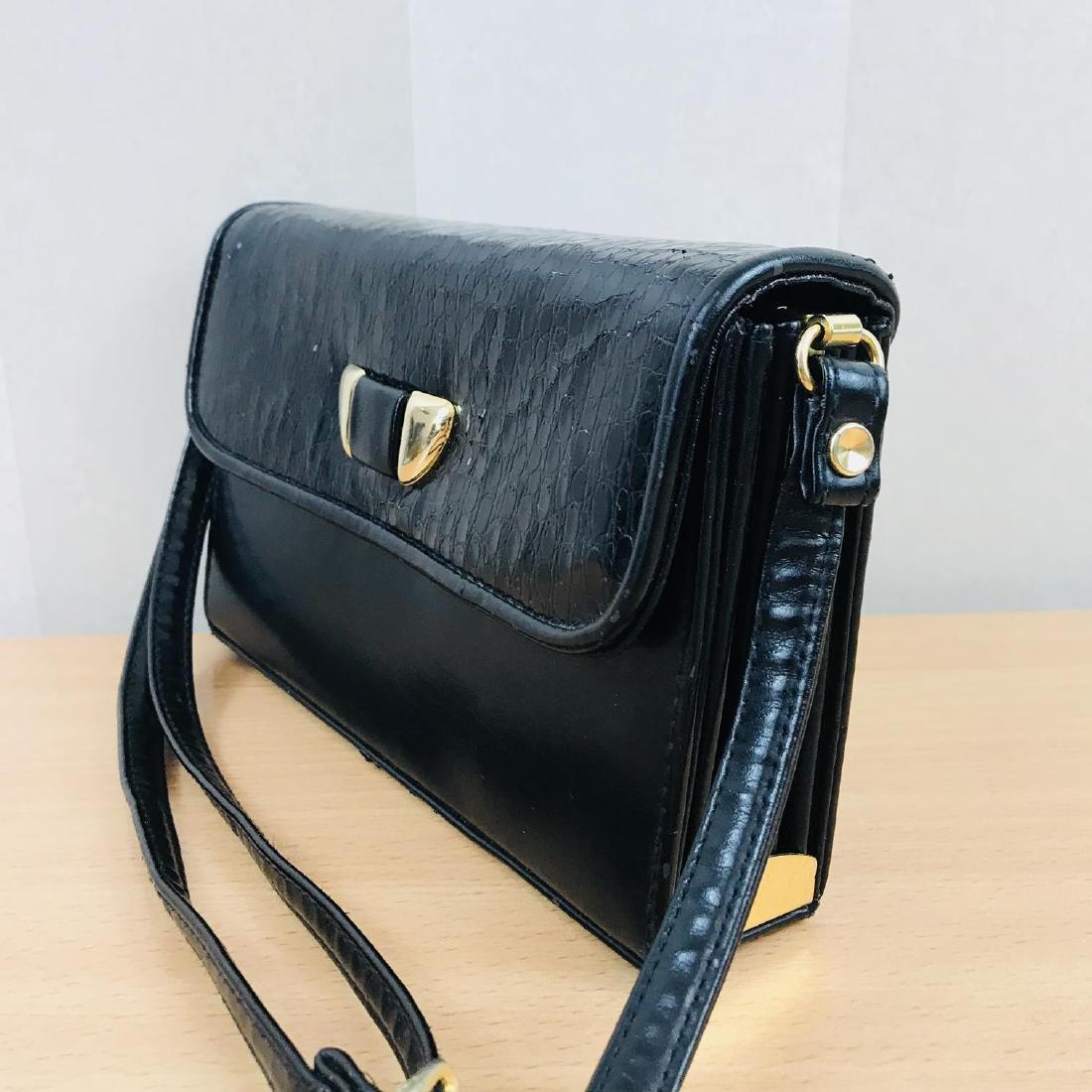 Vintage Handmade Genuine Snake Skin Leather Clutch Bag - 4