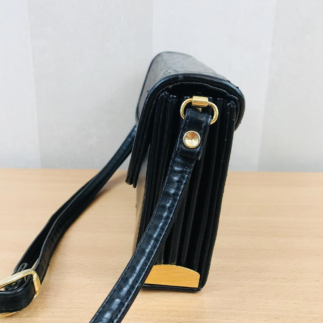 Vintage Handmade Genuine Snake Skin Leather Clutch Bag - 5