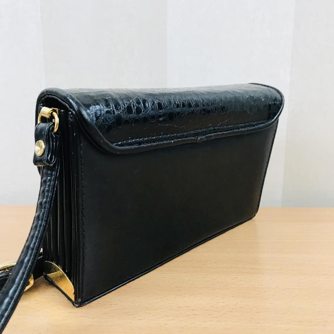 Vintage Handmade Genuine Snake Skin Leather Clutch Bag - 6