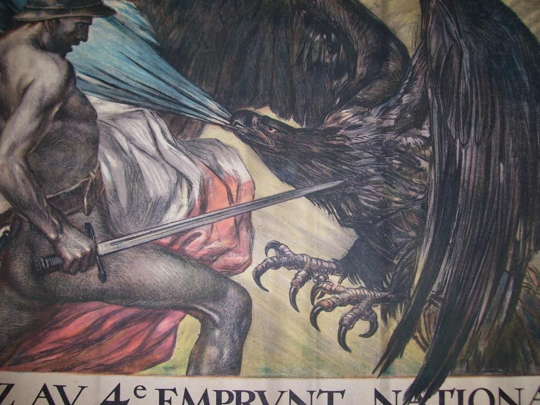 Vintage French WW I Poster Crédit Lyonnais - 1918 - - 3