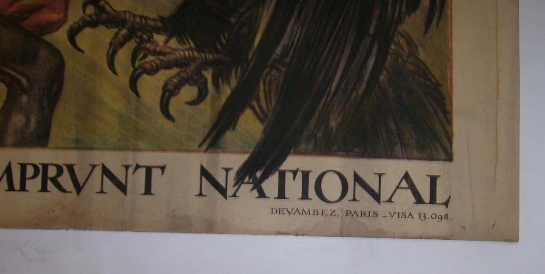 Vintage French WW I Poster Crédit Lyonnais - 1918 - - 5