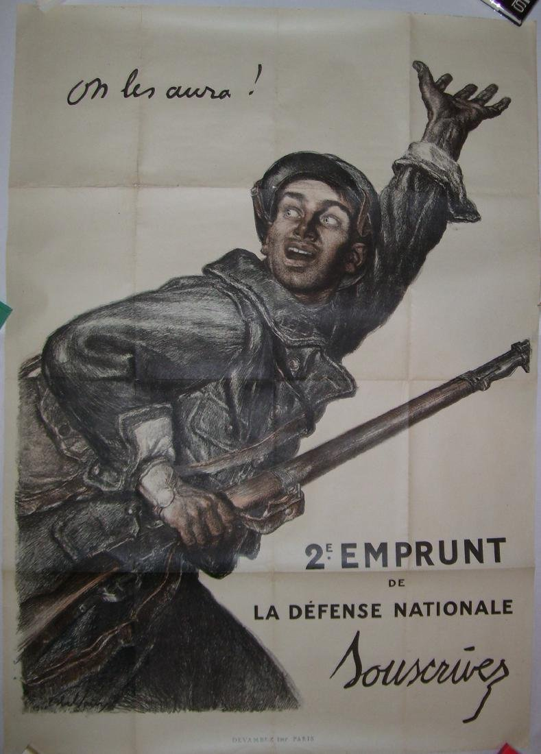 On Les Aura French WWI Poster by Abel Faivre