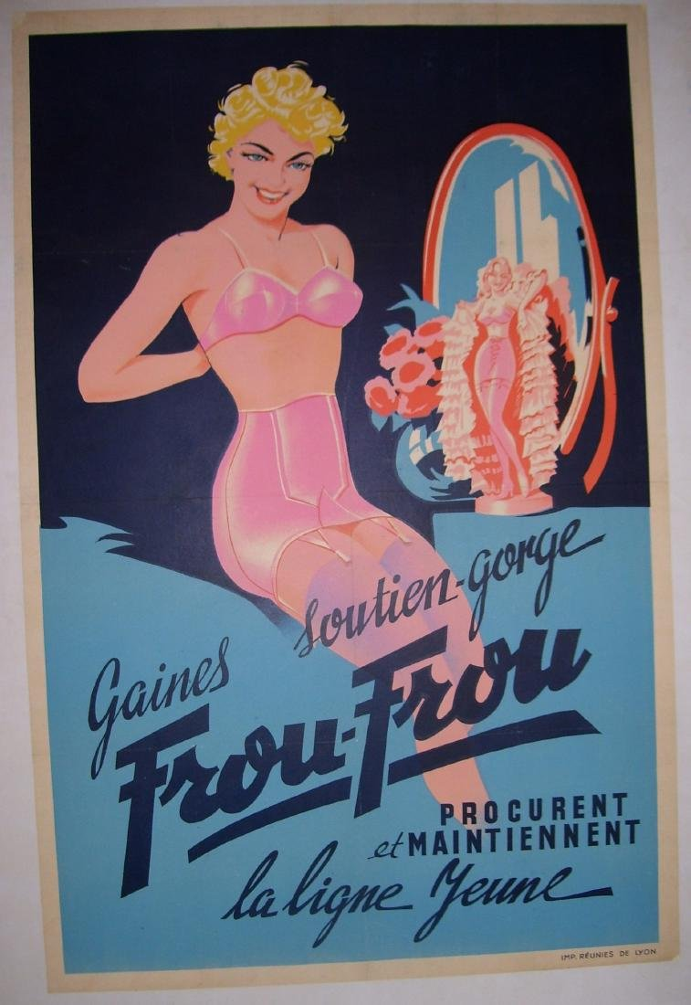 Frou Frou Vintage French Poster