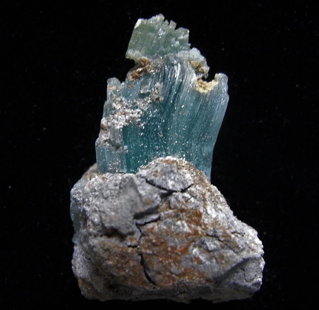 GREEN FIBROUS CHALCANTHITE - 3