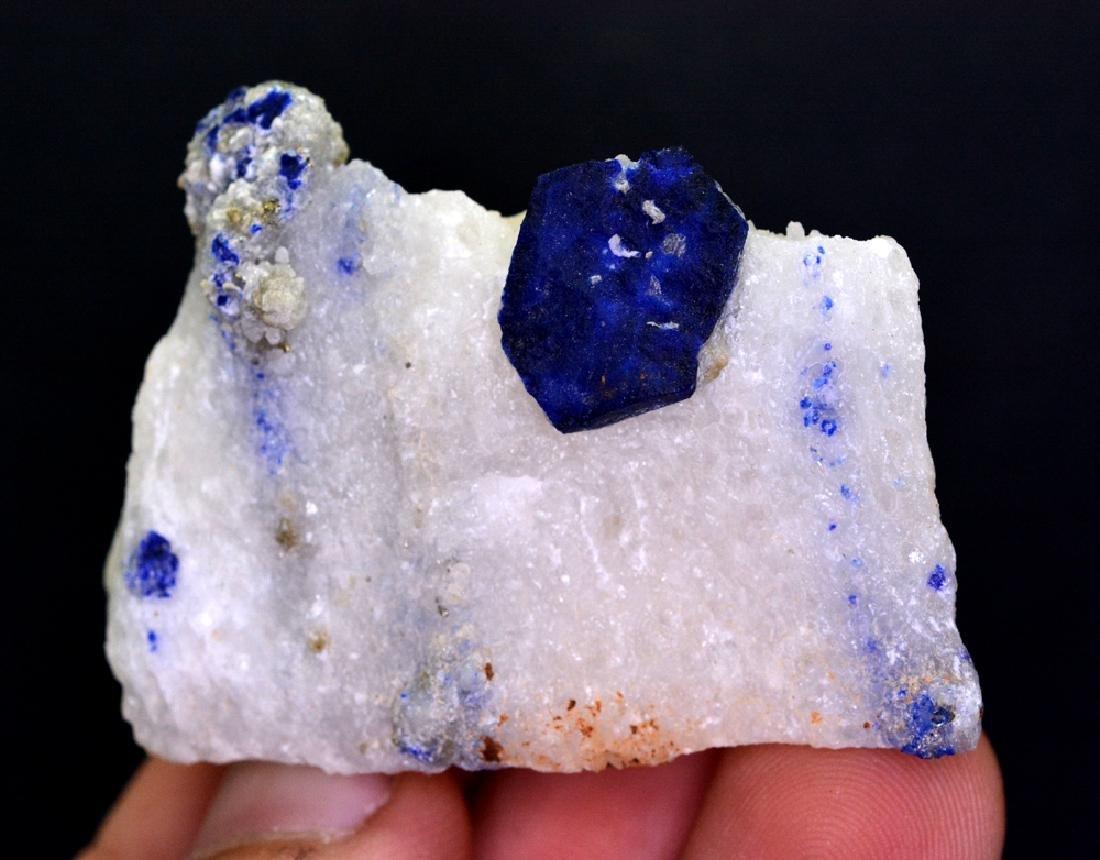 78 Gram Blue Lazurite With Calcite Specimen - 3