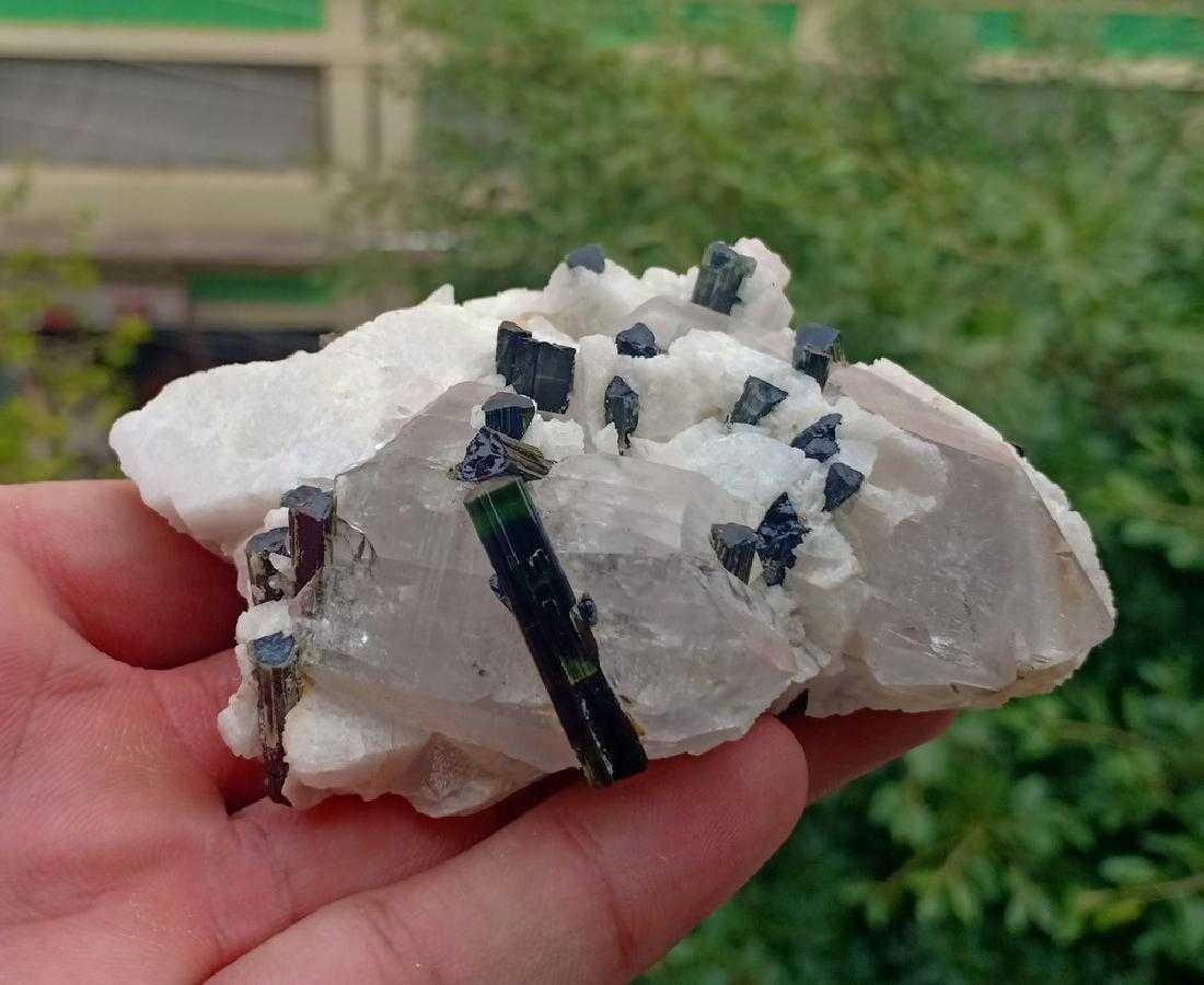 205 Gram Beautiful Tourmaline With Quartz Specimen