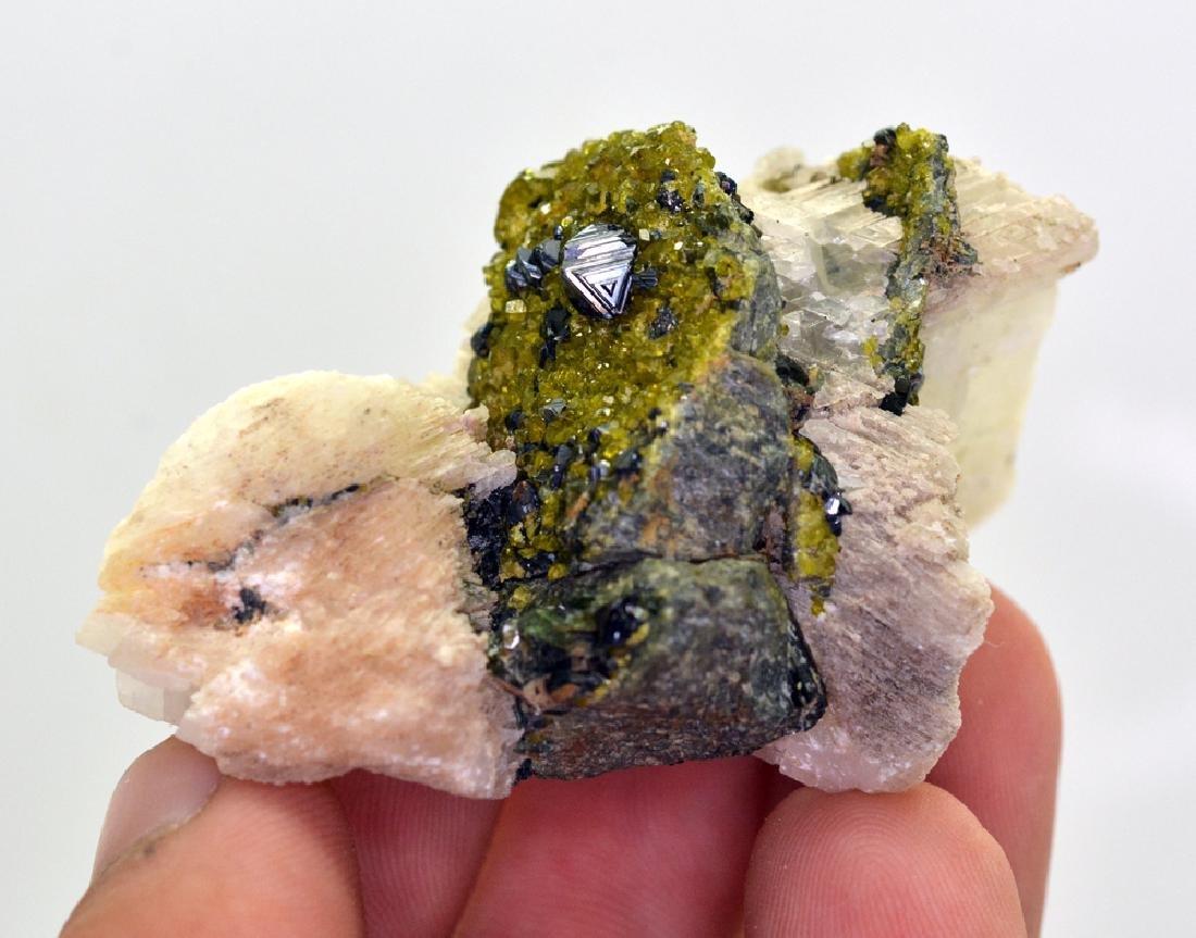 80 Gram Perfect Magnetite With Epidote & Calcite