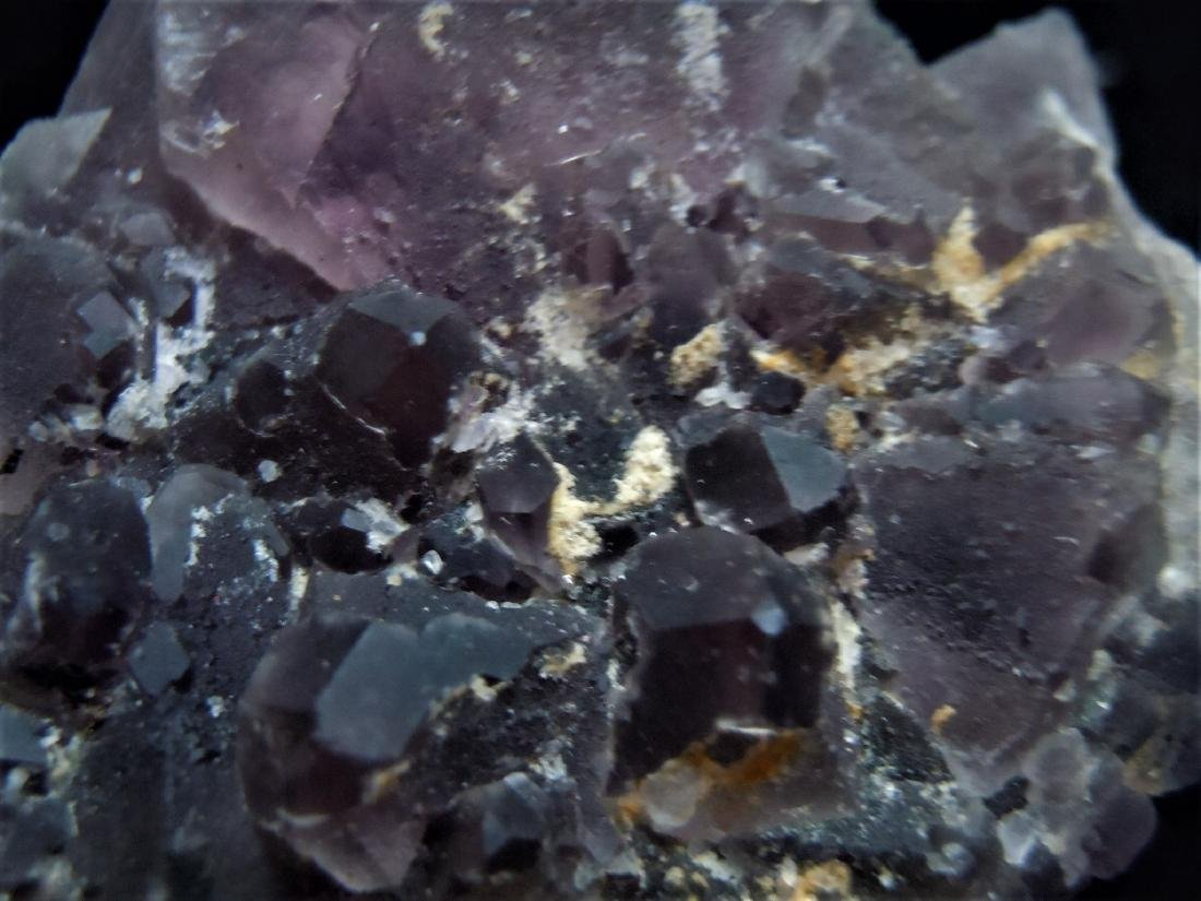 DARK PURPLE FLUORITE CRYSTAL CLUSTER - 4