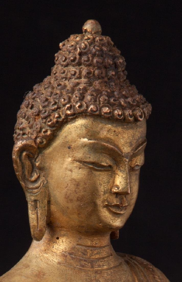Old bronze Nepali Buddha statue - 10