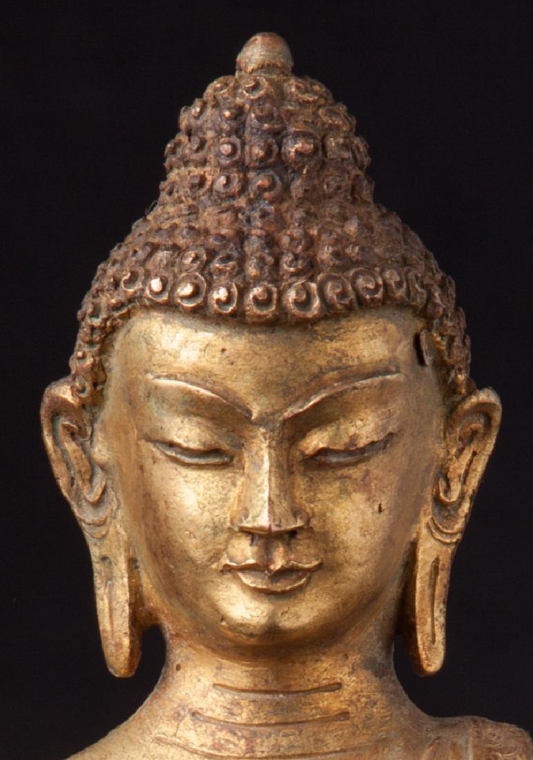 Old bronze Nepali Buddha statue - 11