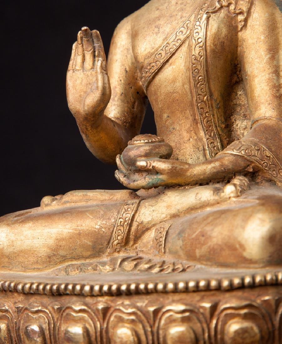 Old bronze Nepali Buddha statue - 15