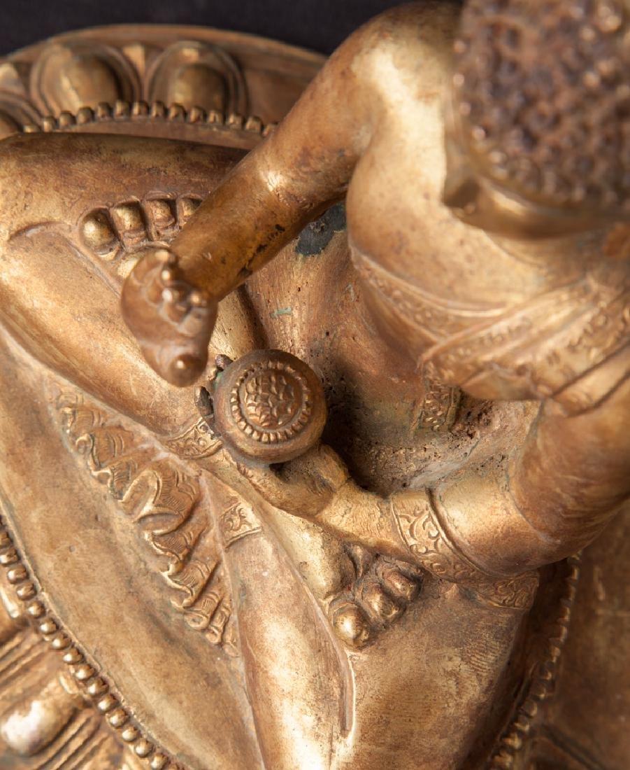 Old bronze Nepali Buddha statue - 16