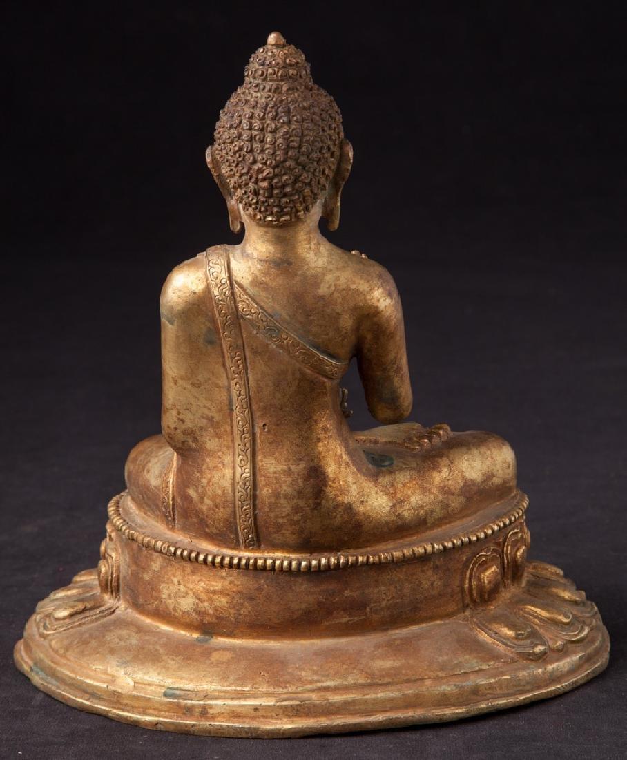 Old bronze Nepali Buddha statue - 4