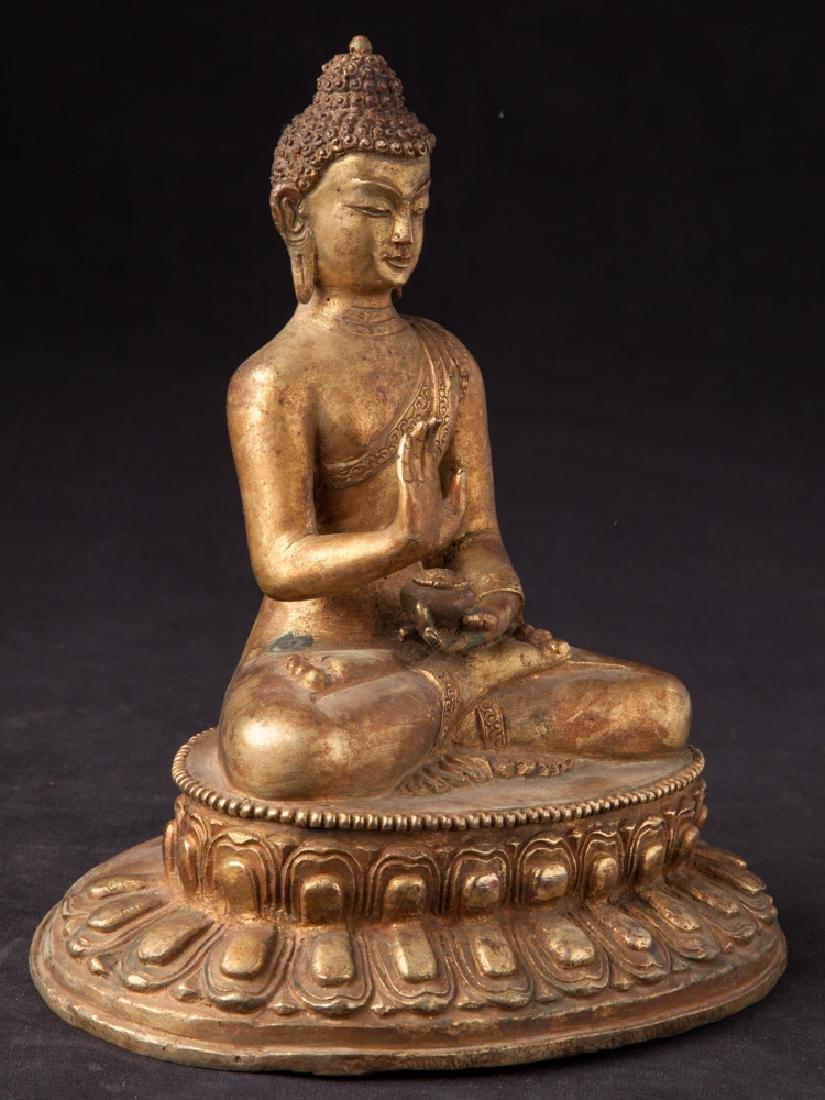 Old bronze Nepali Buddha statue - 6