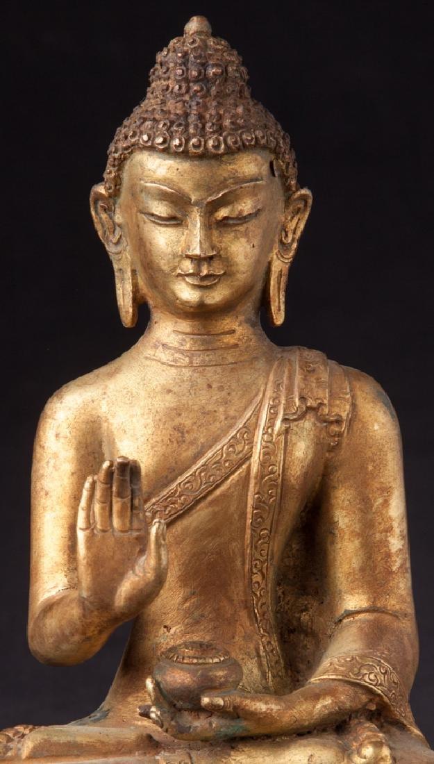 Old bronze Nepali Buddha statue - 8