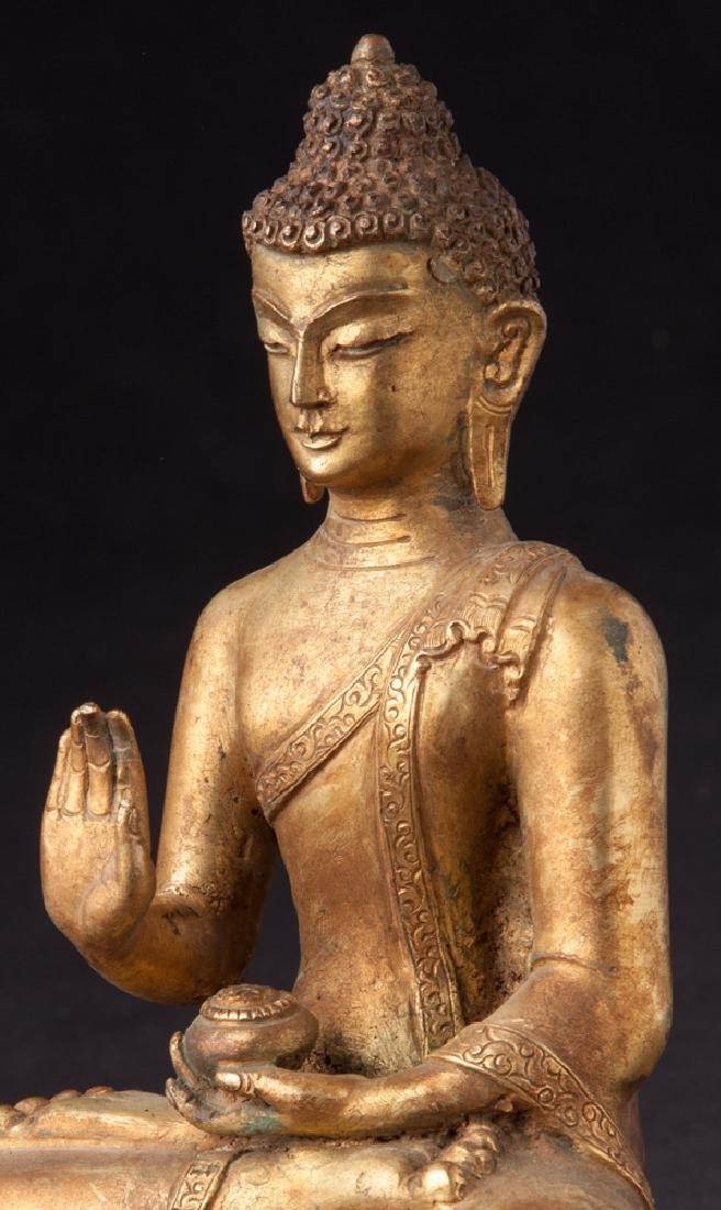 Old bronze Nepali Buddha statue - 9