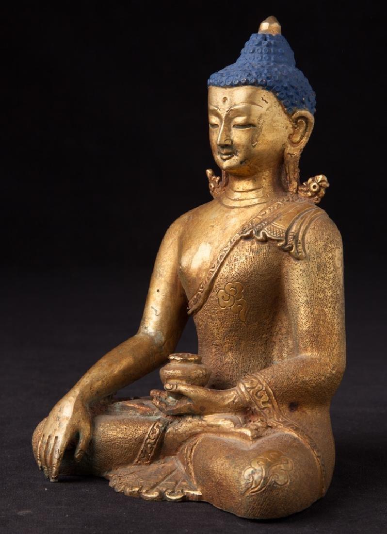 Old bronze Nepali Buddha statue - 2
