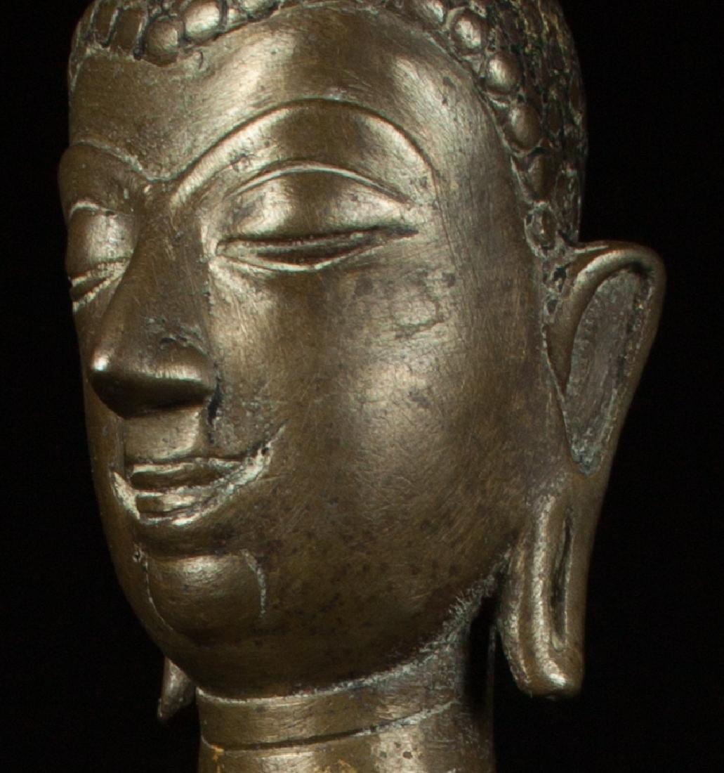 Antique bronze Chiengsean Buddha statue - 10