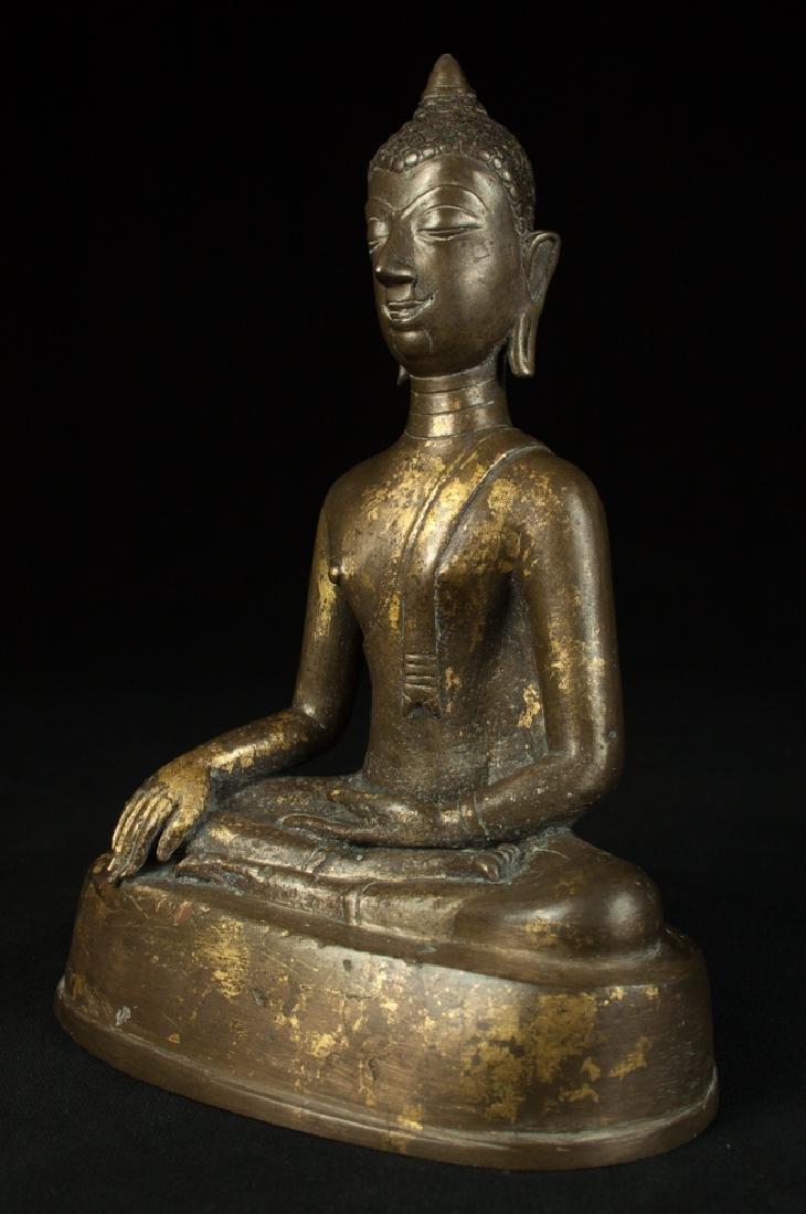 Antique bronze Chiengsean Buddha statue - 2