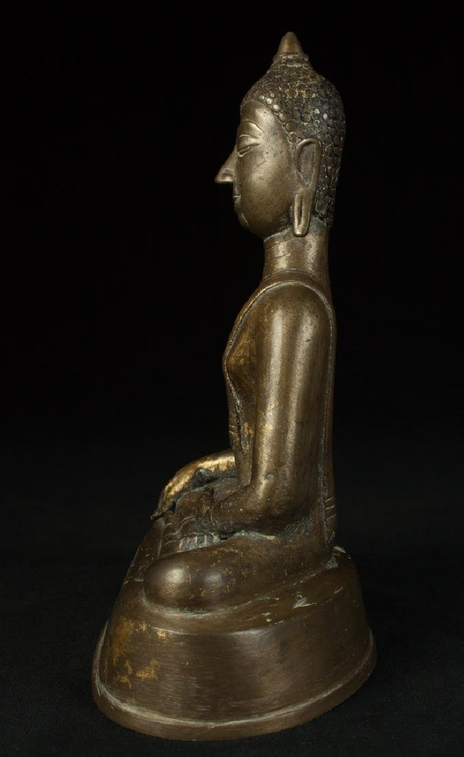 Antique bronze Chiengsean Buddha statue - 3