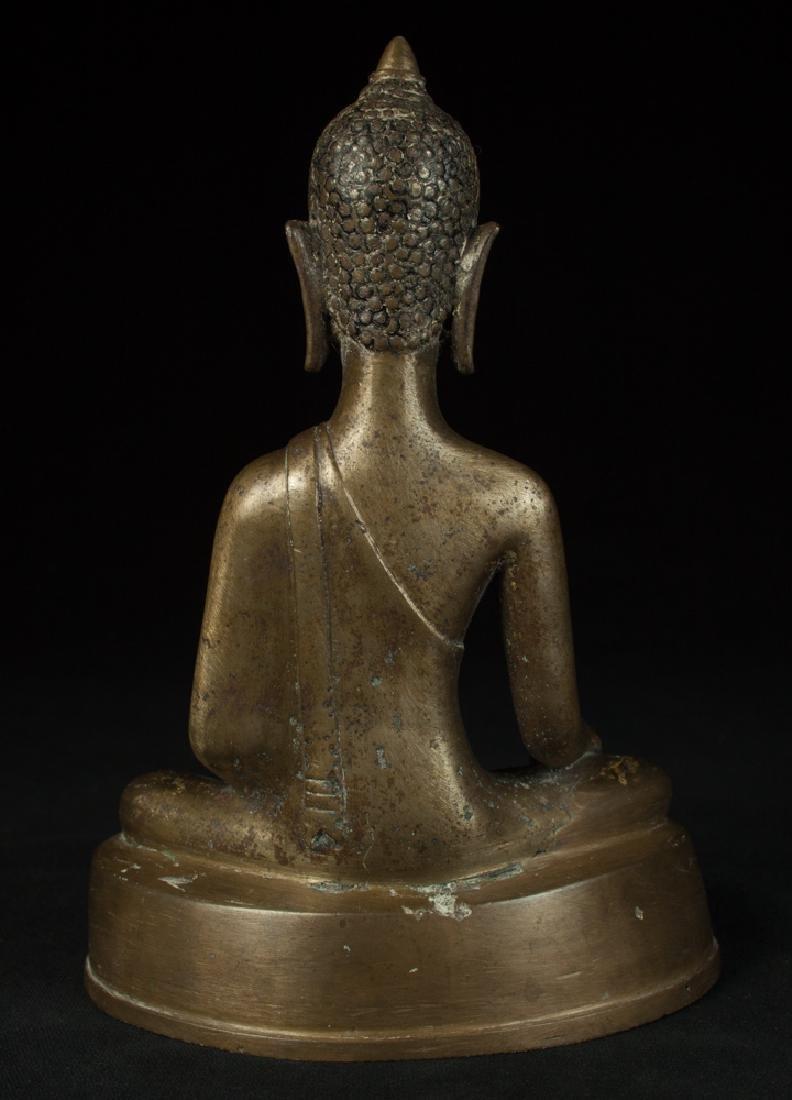 Antique bronze Chiengsean Buddha statue - 4