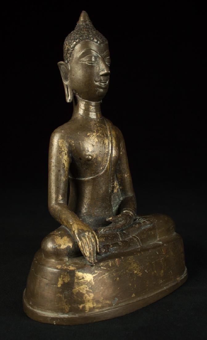 Antique bronze Chiengsean Buddha statue - 6