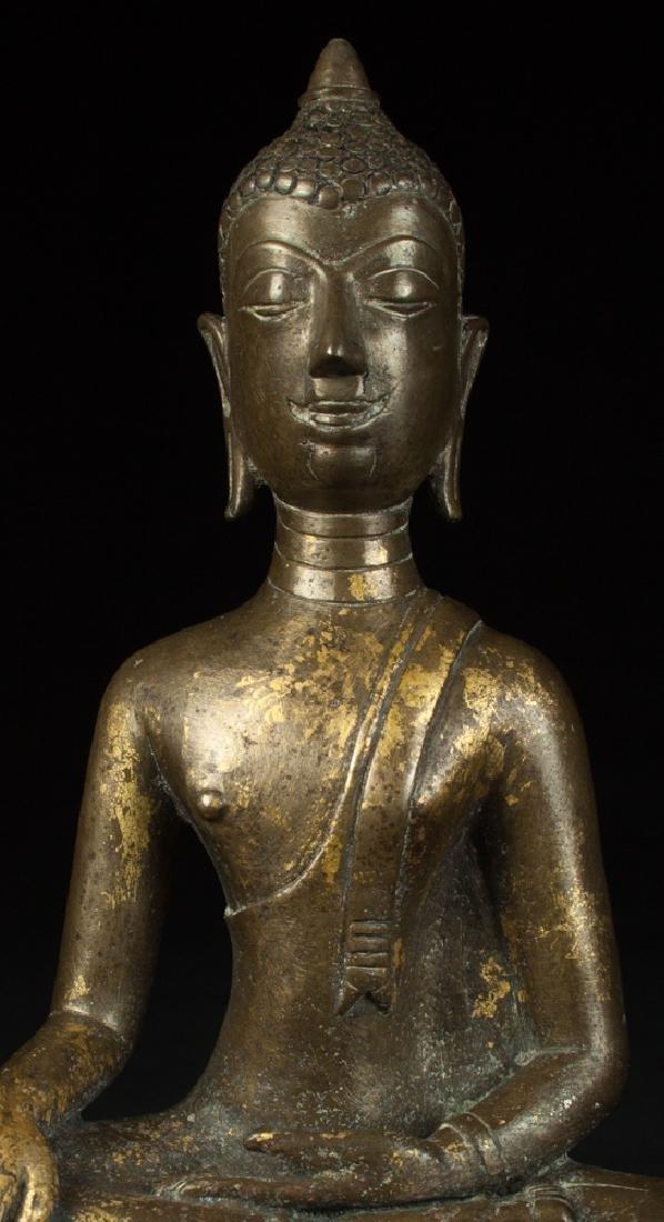 Antique bronze Chiengsean Buddha statue - 7