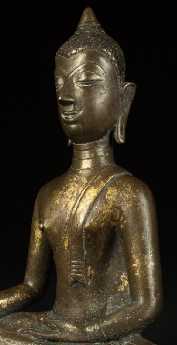 Antique bronze Chiengsean Buddha statue - 8