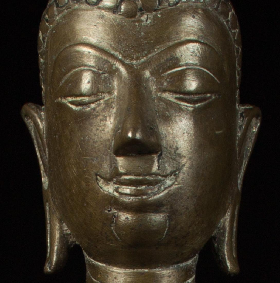 Antique bronze Chiengsean Buddha statue - 9