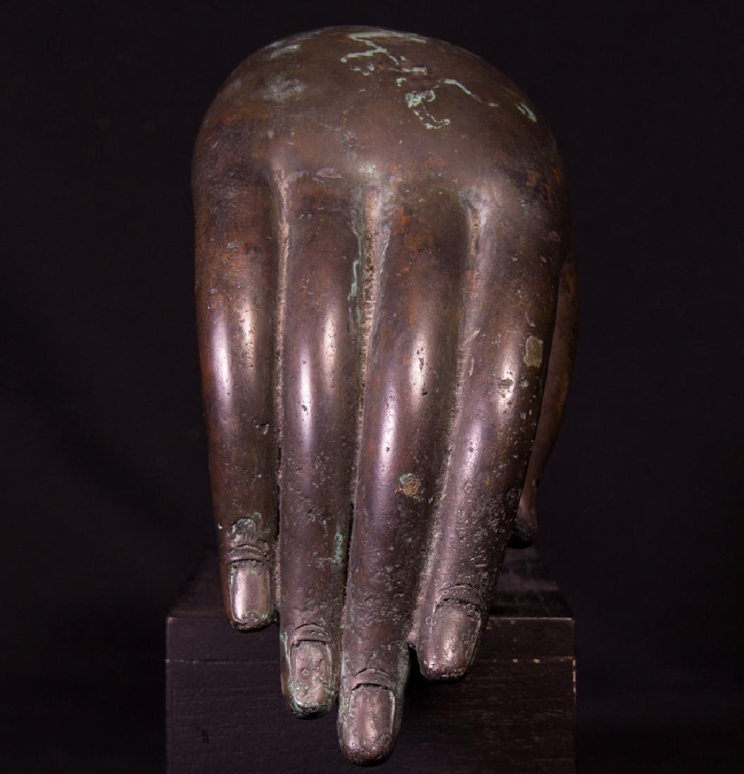 Old bronze Buddha hand - 2