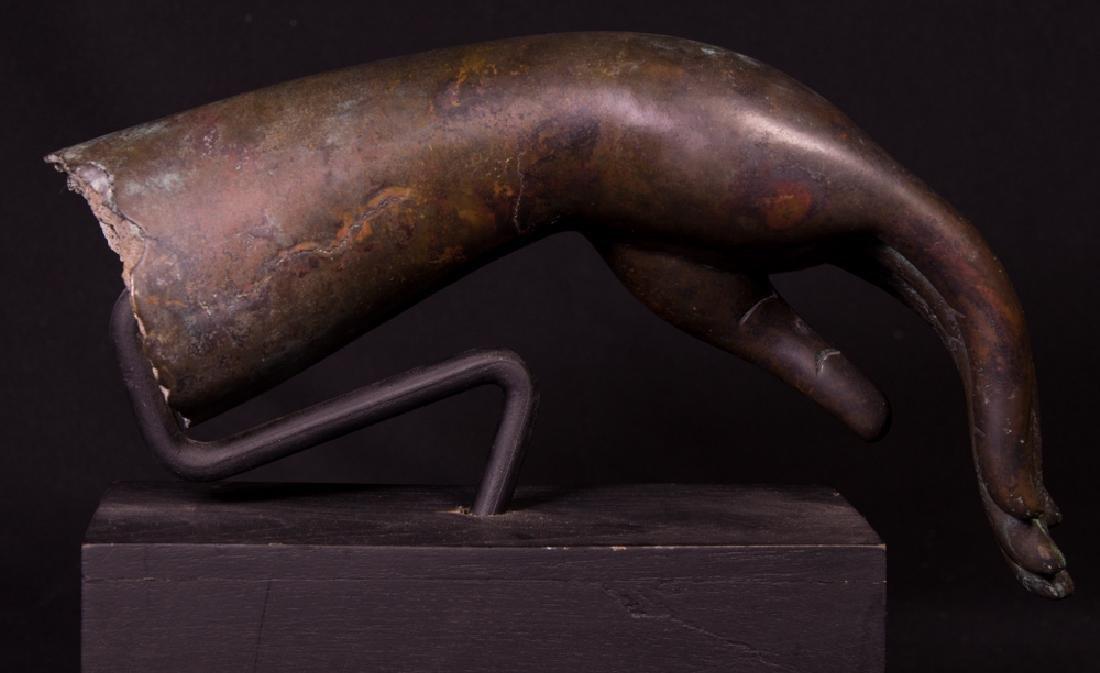 Old bronze Buddha hand - 6