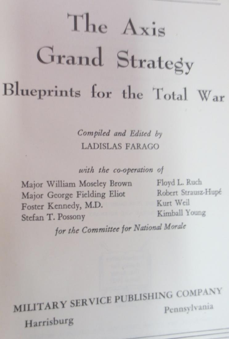 The Axis Grand Strategy; Blueprints for the Total War, - 2