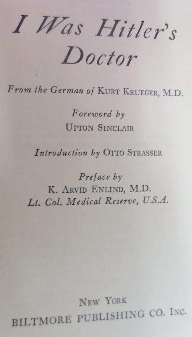 I Was Hitler's Doctor, Red Cover, Author: Kurt Krueger - 2