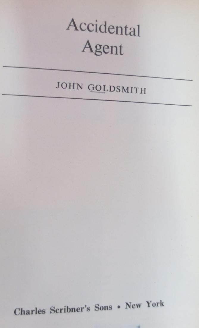 Accidental Agent, Author: John Goldsmith - 2