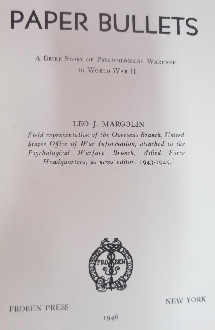 Paper Bullets; Psychological Warfare in World War II, - 2
