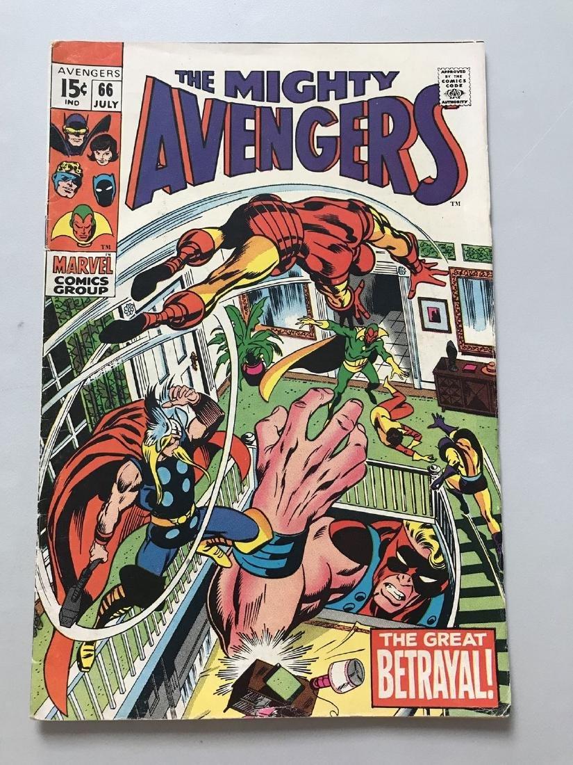 Avengers (1963 1st Series) #66 1st use adamantium